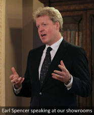 Earl Spencer speaking at our Dorset showrooms