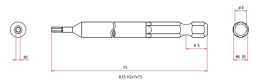 B35 H2x7x75