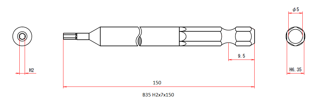 B35 H2x7x150H