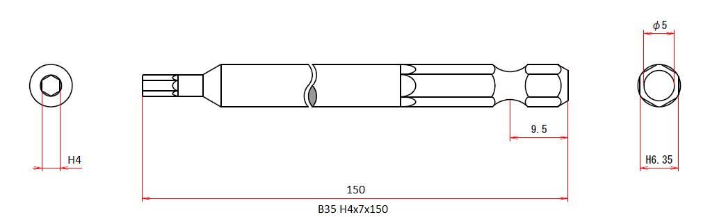 B35 H4x7x150