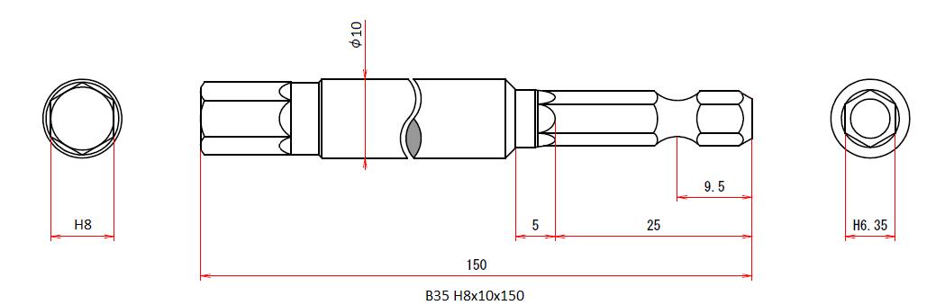 B35 H8x10x150H