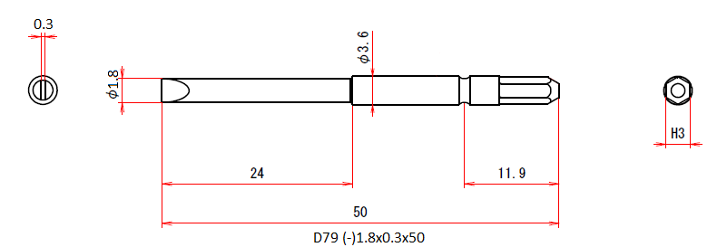 D79 (-)1.8x0.3x50