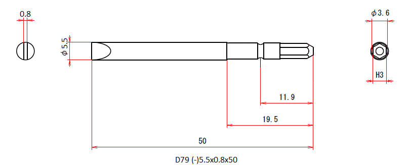 D79 (-)5.5x0.8x50