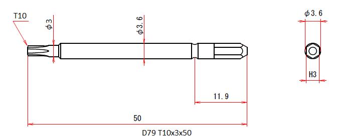 D79 T10x3.0x50