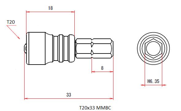 T20x33 MMBC (Magnetic Viscatch)
