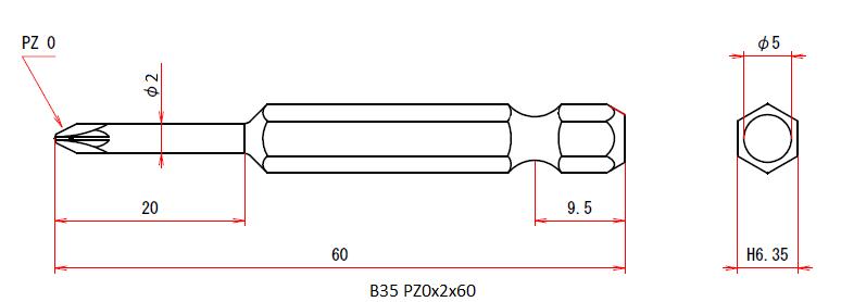 B35 PZ0x2x60