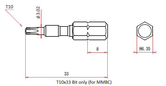 T10x33 Bit only (for MMBC)