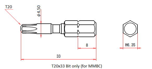 T20x33 Bit only (for MMBC)