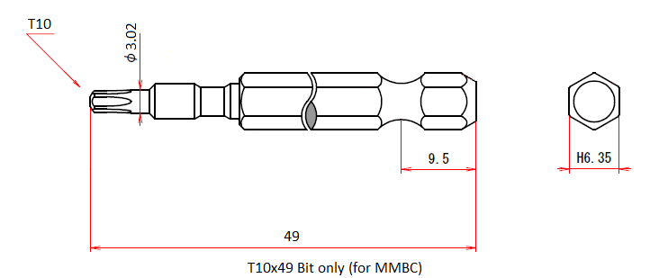 T10x49 Bit only (for MMBC)