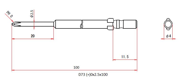 D73 (+)0x2.5x100