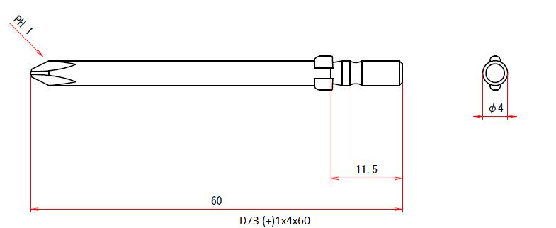 D73 (+)1x4x60