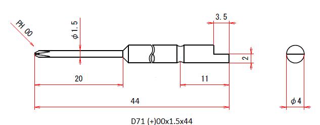 D71 (+)00x1.5x44