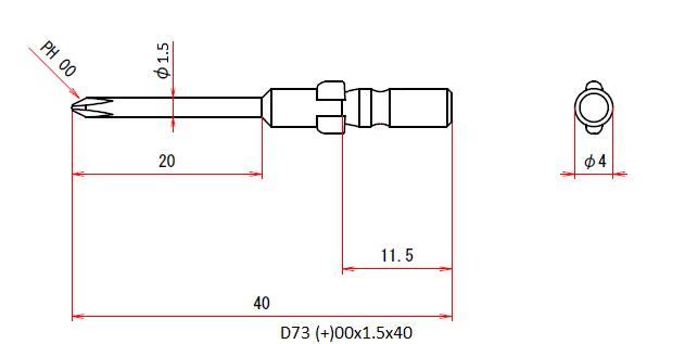 D73 (+)00x1.5x40