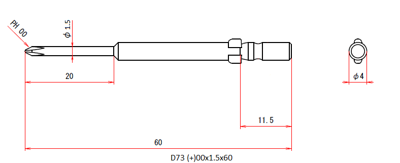 D73 (+)00x1.5x60