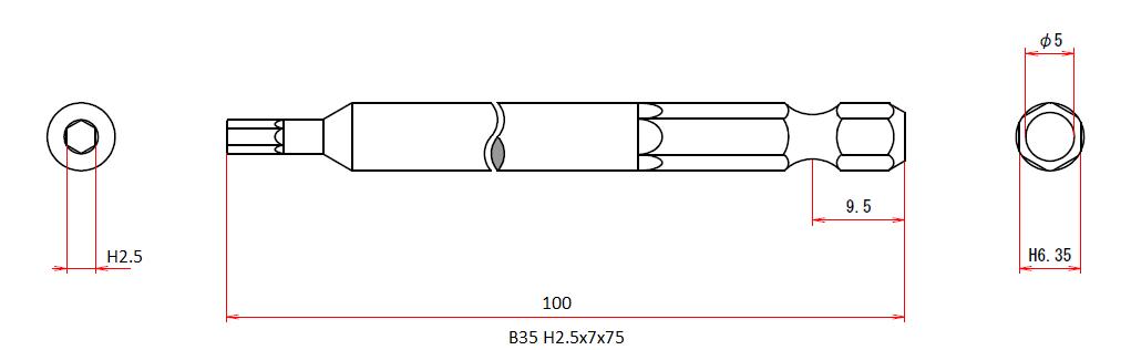 B35 H2.5x7x100
