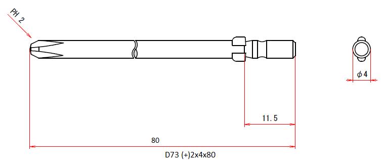 D73 (+)2x4x80