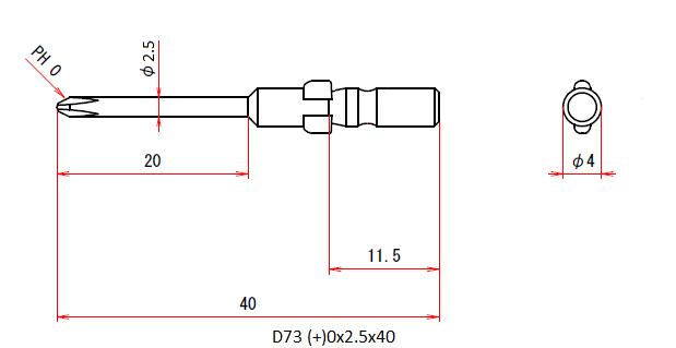 D73 (+)0x2.5x40