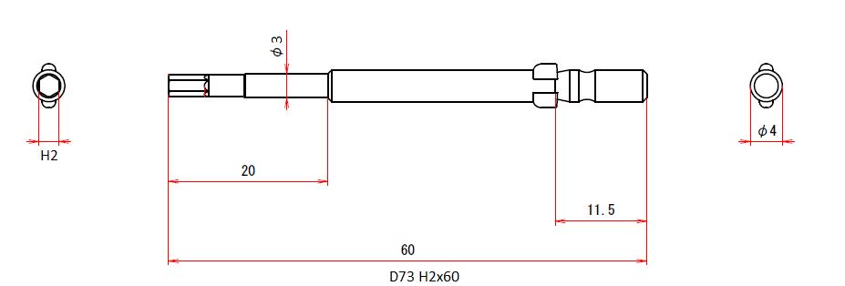 D73 H2x3x60