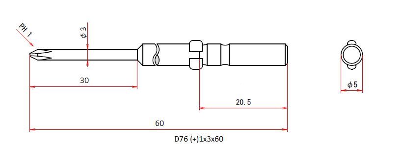 D76 (+)1x3x60
