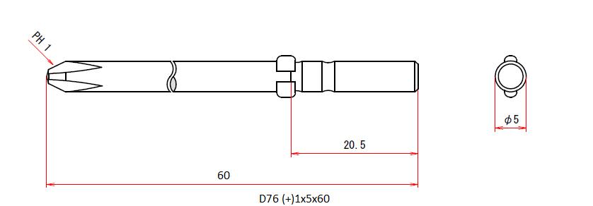 D76 (+)1x5x60