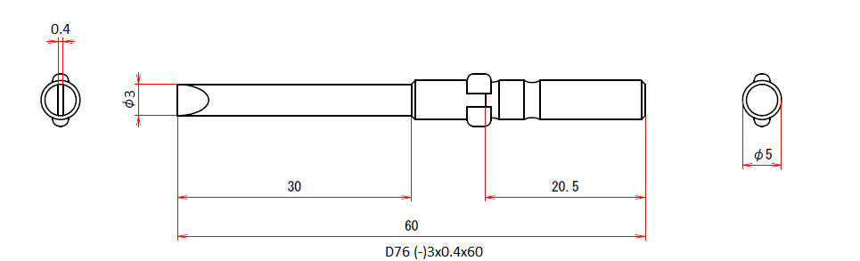 D76 (-)3x0.4x60