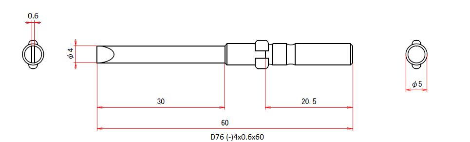 D76 (-)4x0.6x60
