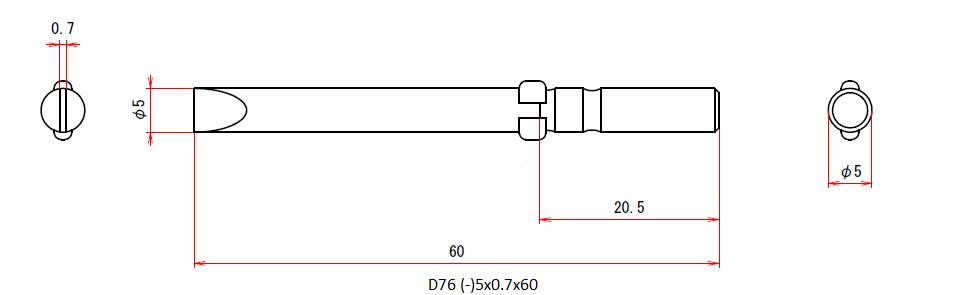 D76 (-)5x0.7x60