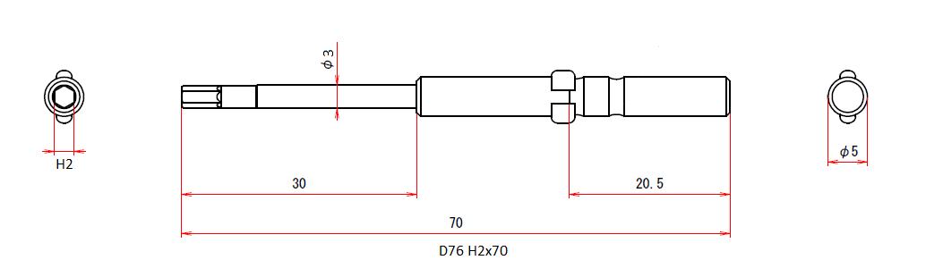 D76 H2x3x70