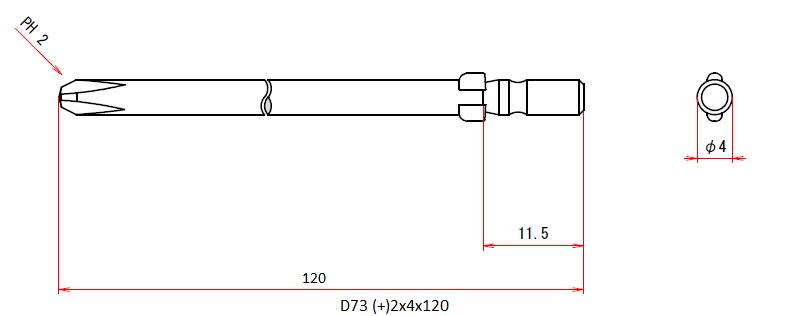 D73 (+)2x4x120