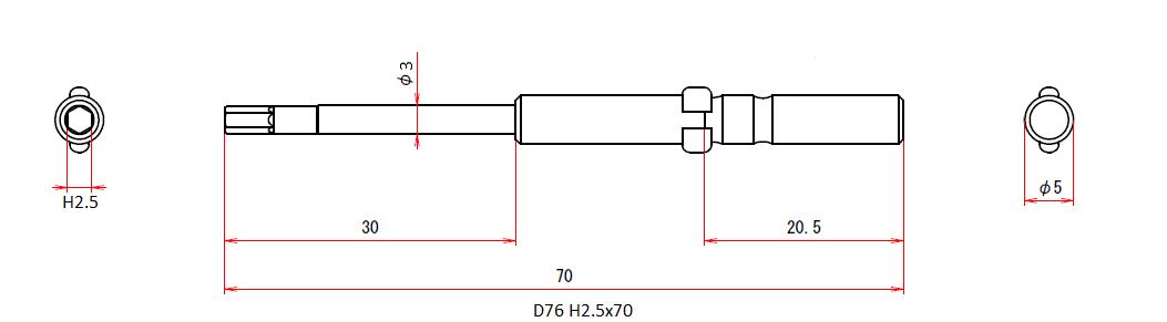 D76 H2.5x3x70