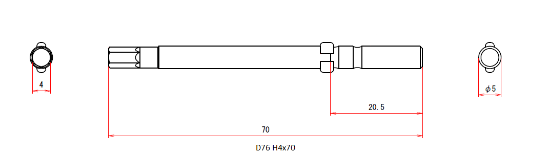 D76 H4x5x70