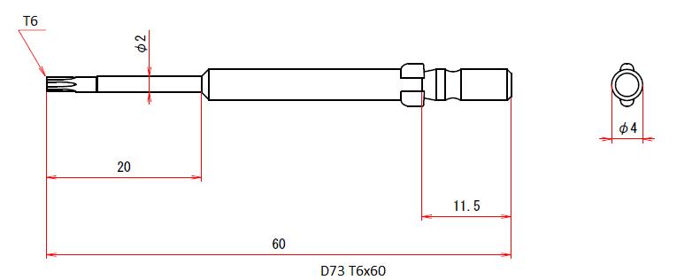 D73 T6x2x20x60