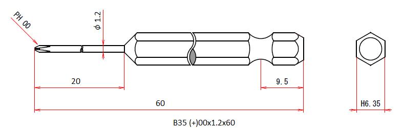 B35 (+)00x1.2x60