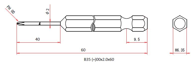 B35 (+)00x2x40x60