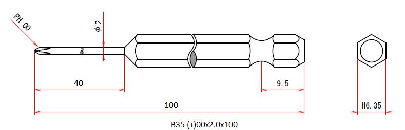 B35 (+)00x2x100