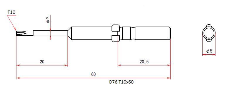 D76 T10x60