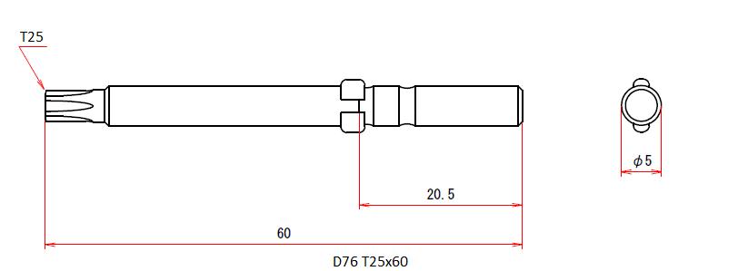 D76 T25x60