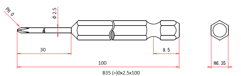 B35 (+)0x2.5x100