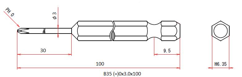 B35 (+)0x3x100