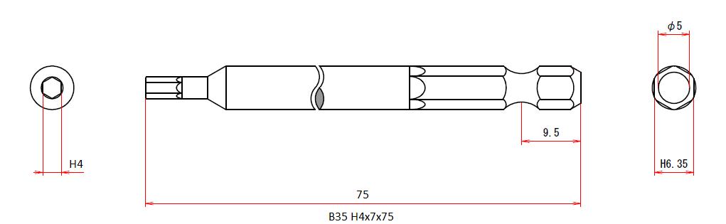 B35 H4x7x75