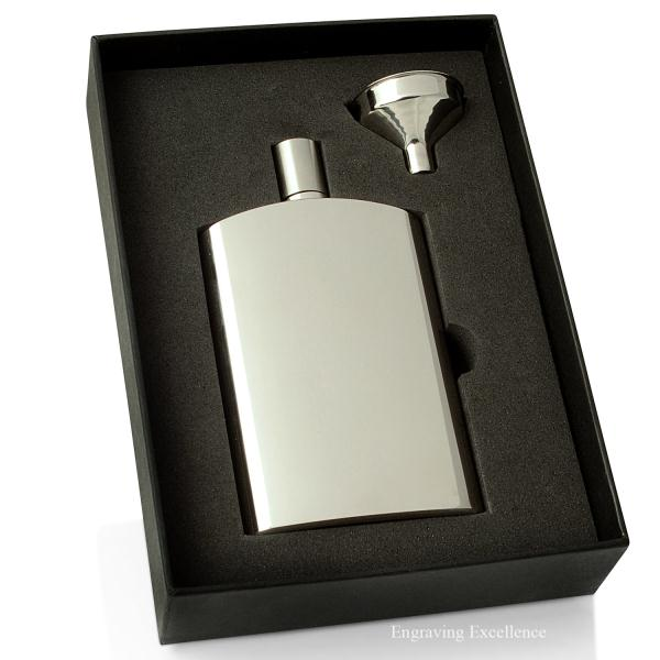 Slim 4oz Hip Flask and Funnel Gift Set