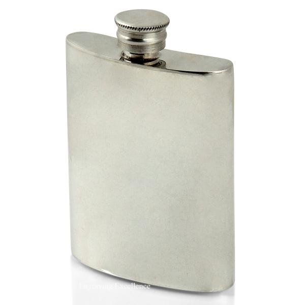 4oz Handmade Pewter Hip Flask