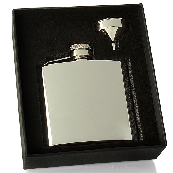 4oz Shiny Hip Flask and Funnel Set