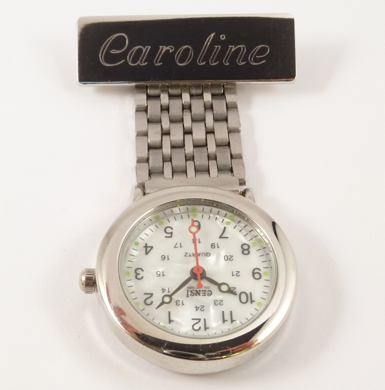 Nurses Fob Watch - Silver