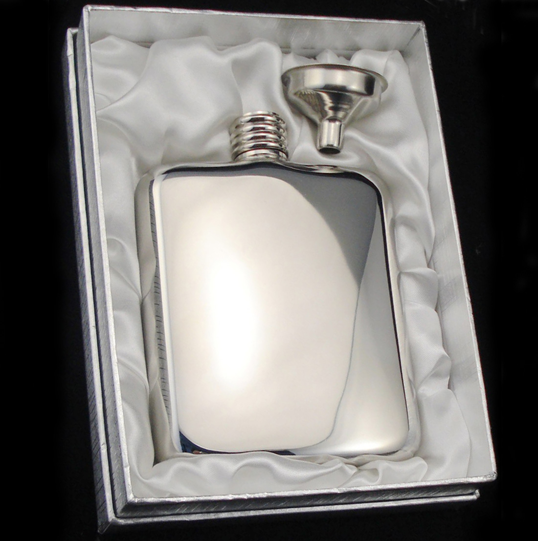 Mirror Finish 6oz Hip Flask
