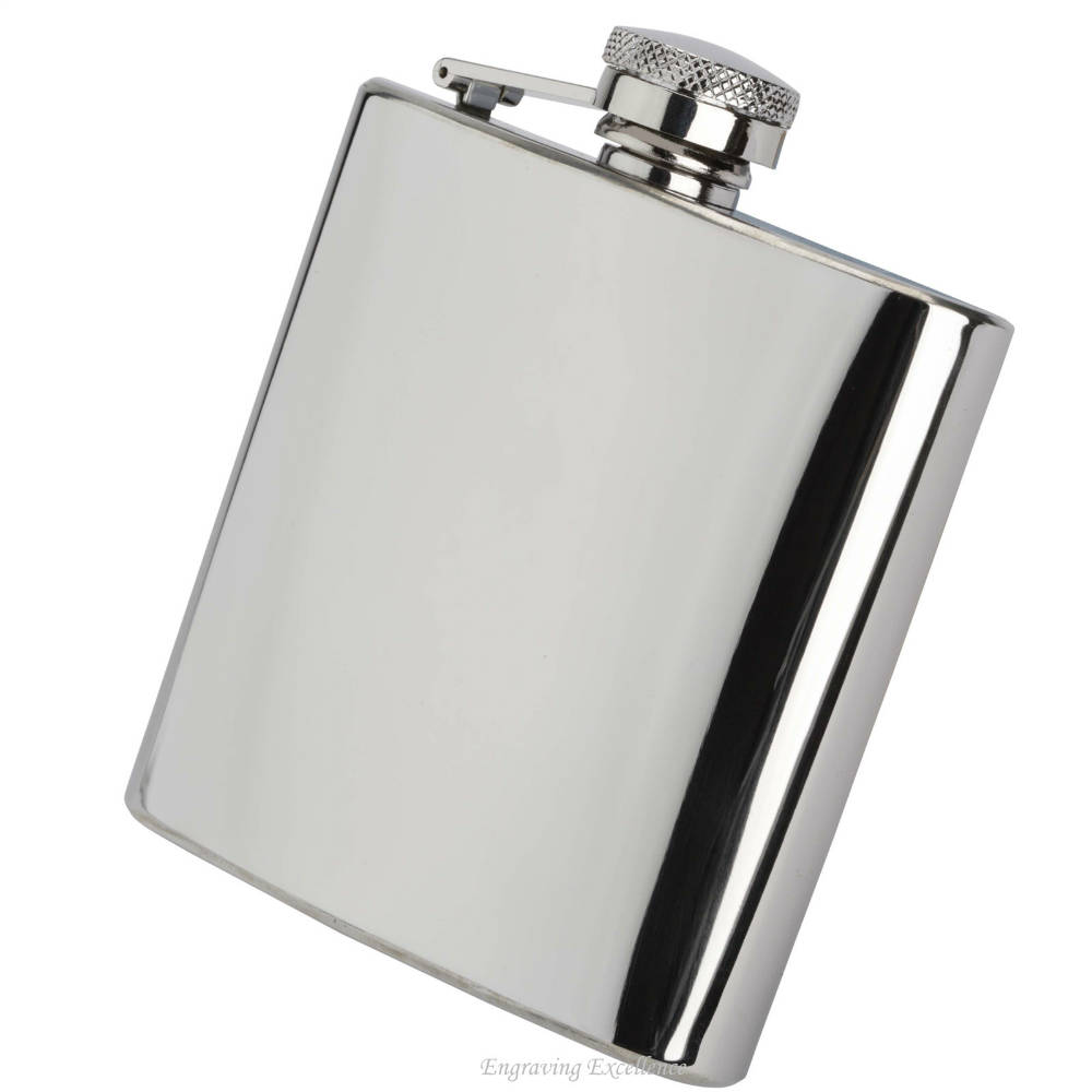 Shiny 6oz Hip Flask