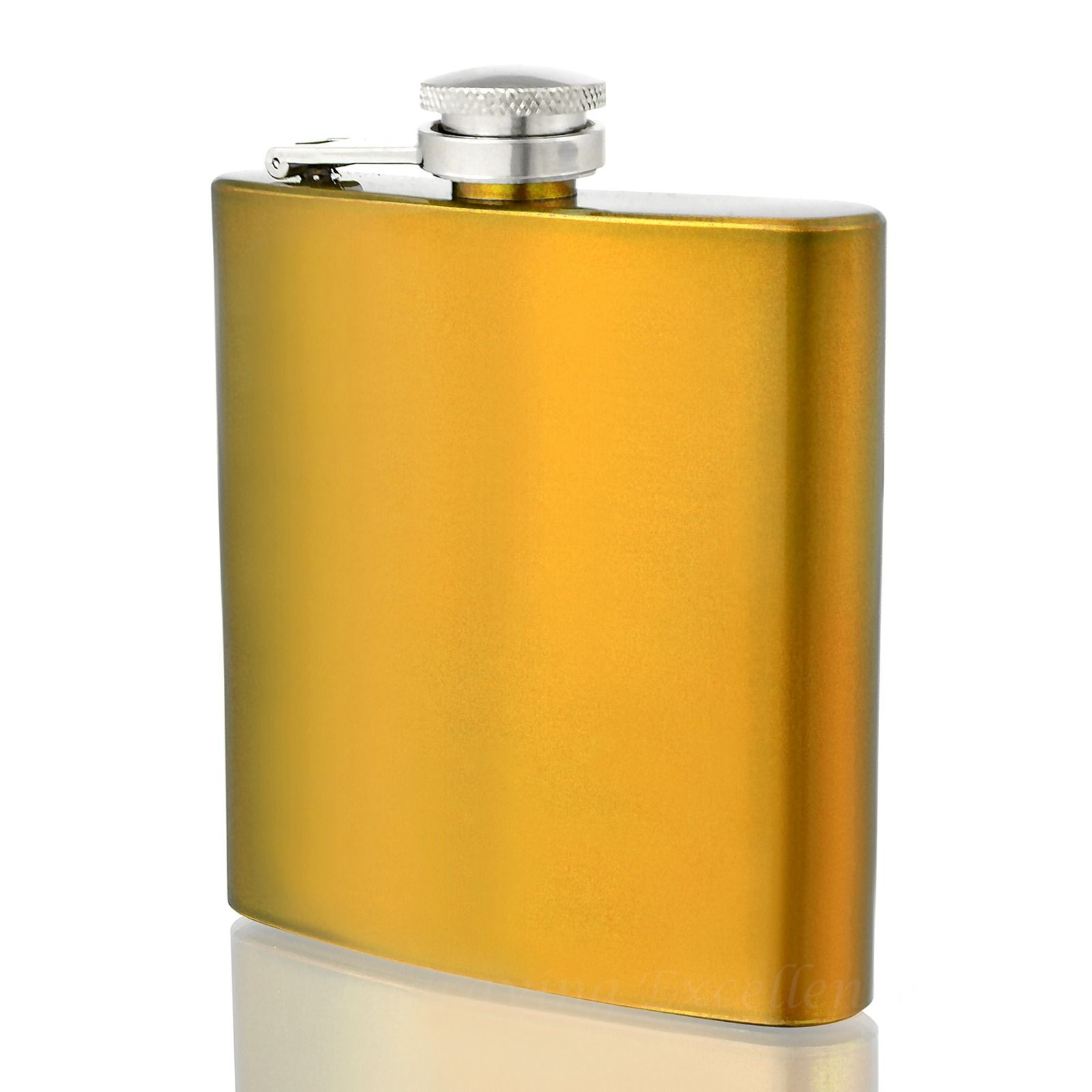 Engraved 6oz Gold Coloured  Hip Flask