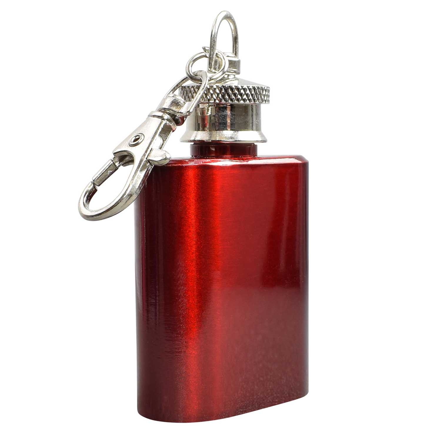 1oz Red Hip Flask