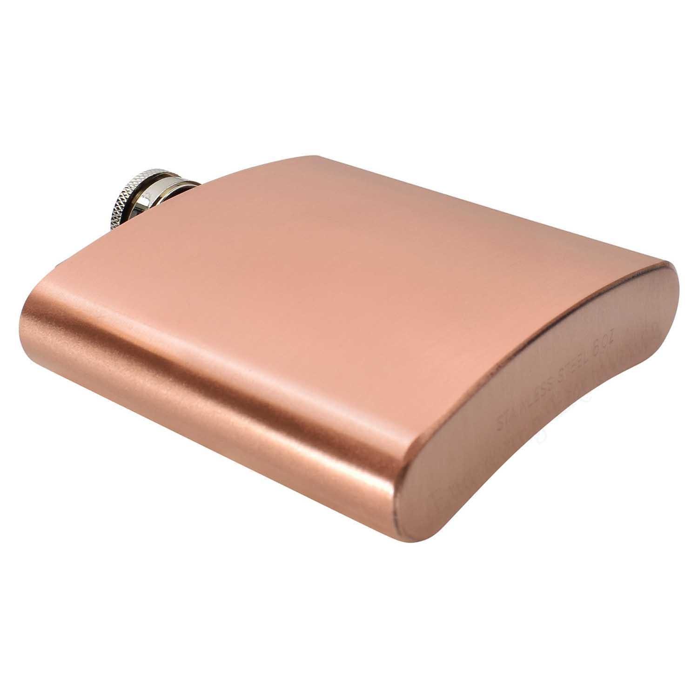 Engraved Copper 6oz Hip Flask