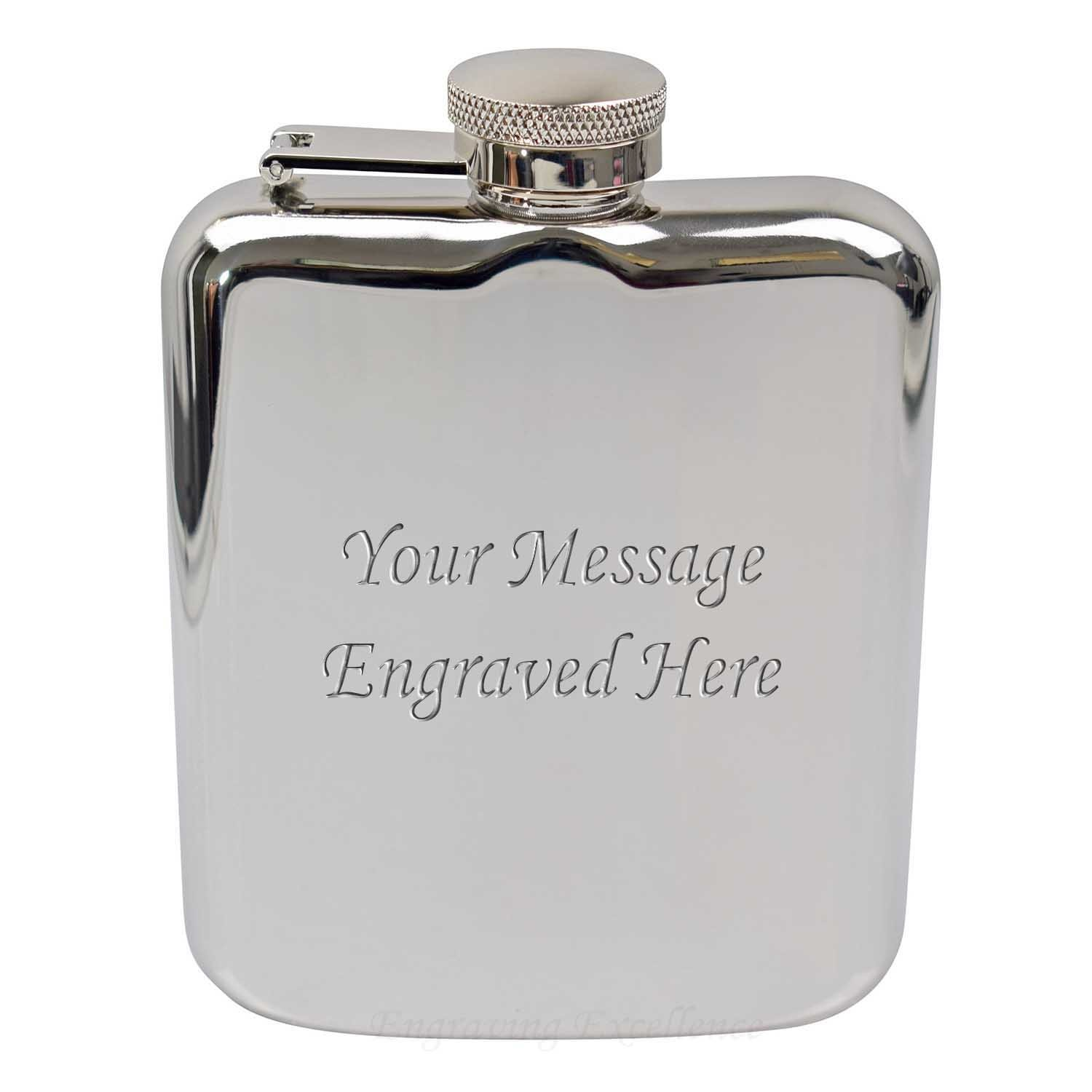 6oz High Quality Hip Flask With Captive Lid